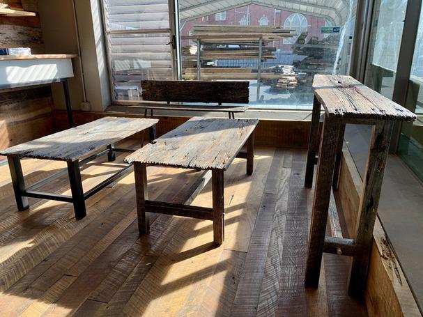 Reclaimed Oak Table Set