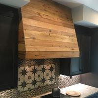 Barn wood stove hood cover
