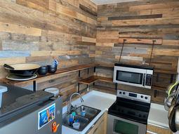 Kitchen Remodel Reclaimed Open Shelving