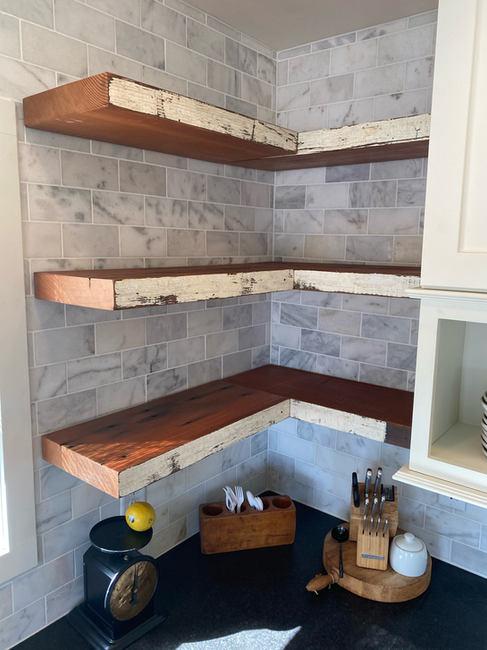 Reclaimed Douglas-fir Kitchen Shelving