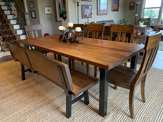 Custom Table with Matching Bench