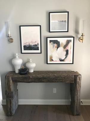 Custom rustic beam entry table