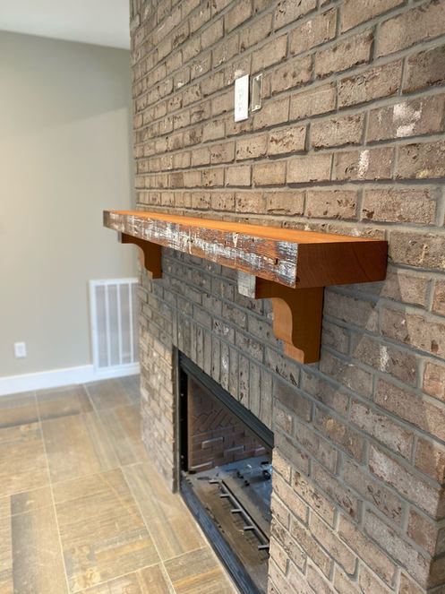 Reclaimed Mantel and Corbels