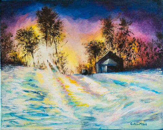 Sunset on Crunchy Snow - 120CM20