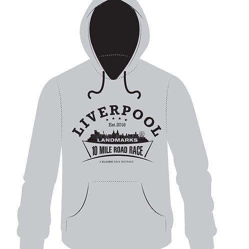 Liverpool Landmarks 10 Miler Hoody GREY