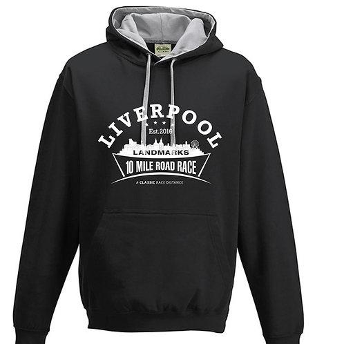 Liverpool Landmarks 10 Miler Hoody BLACK