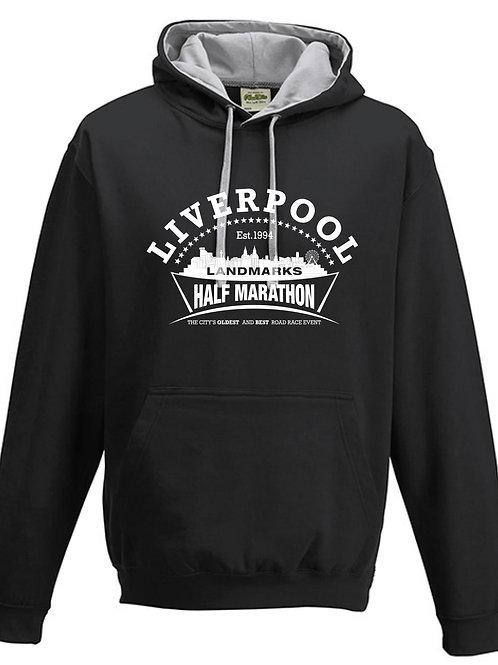 Liverpool Landmarks Half Marathon Hoody BLACK