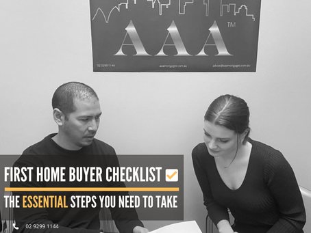 First Home-buyer Checklist