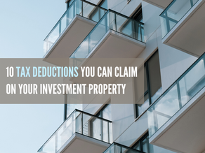 10 tax deductions you can claim on your investment property