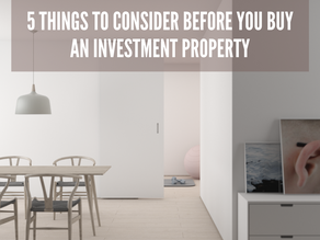 5 Things to Consider When Buying an Investment Property