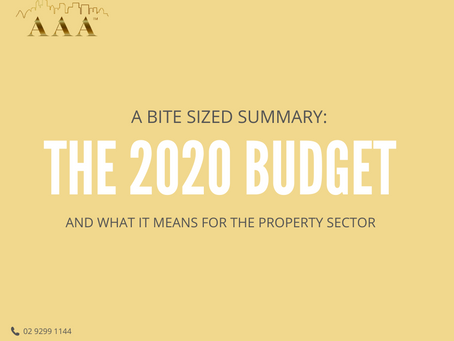 Key Takeaways from the 2020 Budget