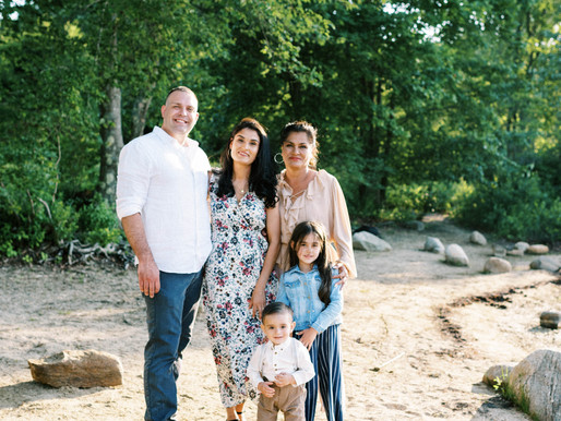 The Galarza Perkins Family - A Family Session in Western Massachusetts