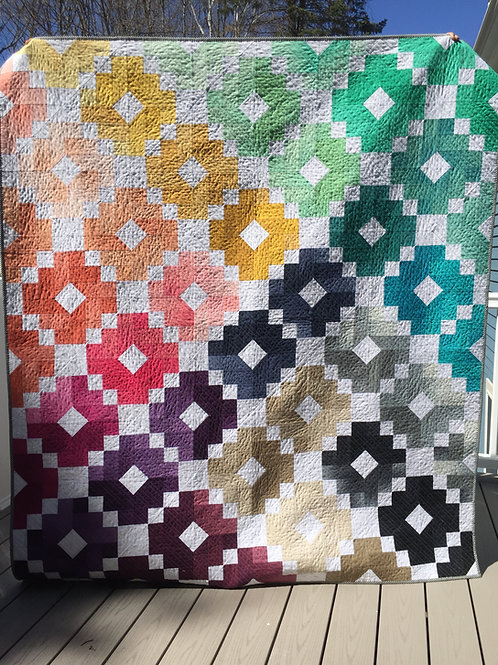 Ombre Gems Bed Quilt/Wall Hanging