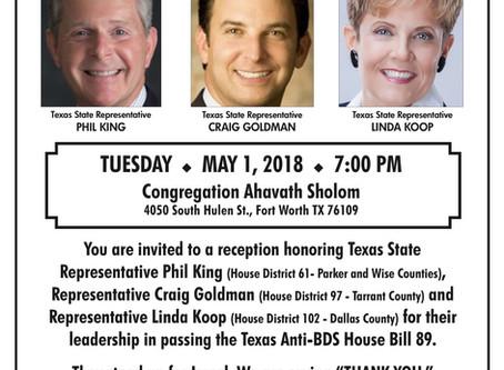 Thank You Reception for Texas State Legislators