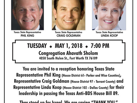 Thank You Reception for Texas State Legislators