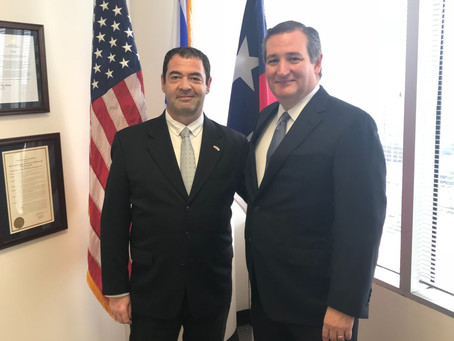 Sen. Ted Cruz Meets Israeli Consul General Gilad Katz