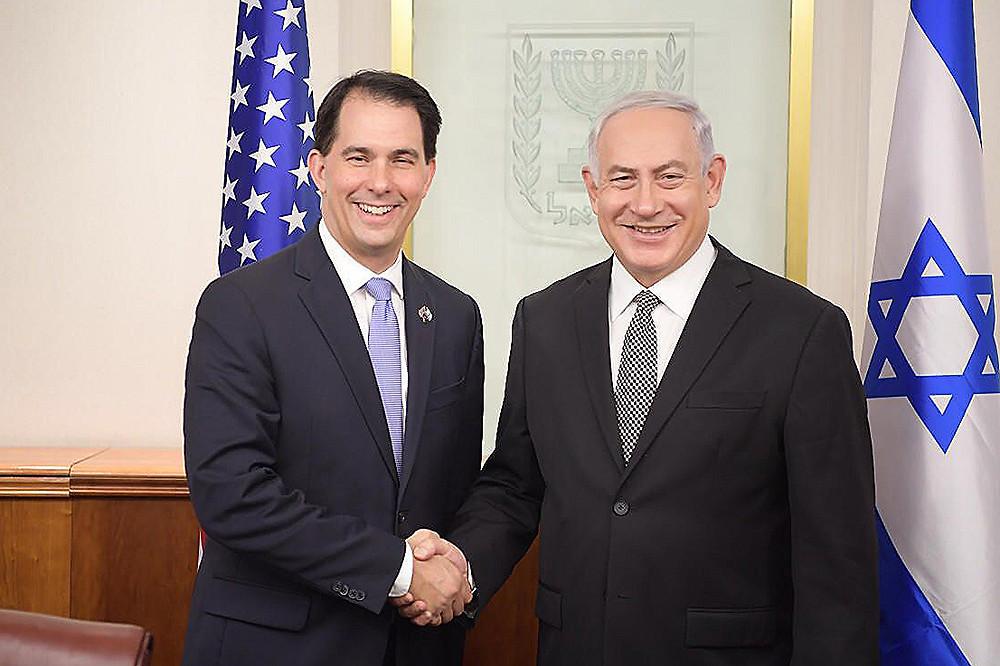 Governor Scott Walker and Prime Minister Benjamin Netanyahu