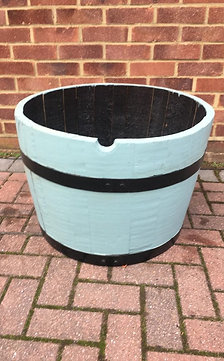 Painted Oak Planter in Duck Egg Blue