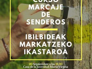 Curso de Marcaje Ruta del Zumaque · Zumakearen Ibilia Markatzeko Ikastaroa