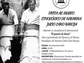 Así fue la visita al Museo Etnológico de Navarra, Julio Caro Baroja
