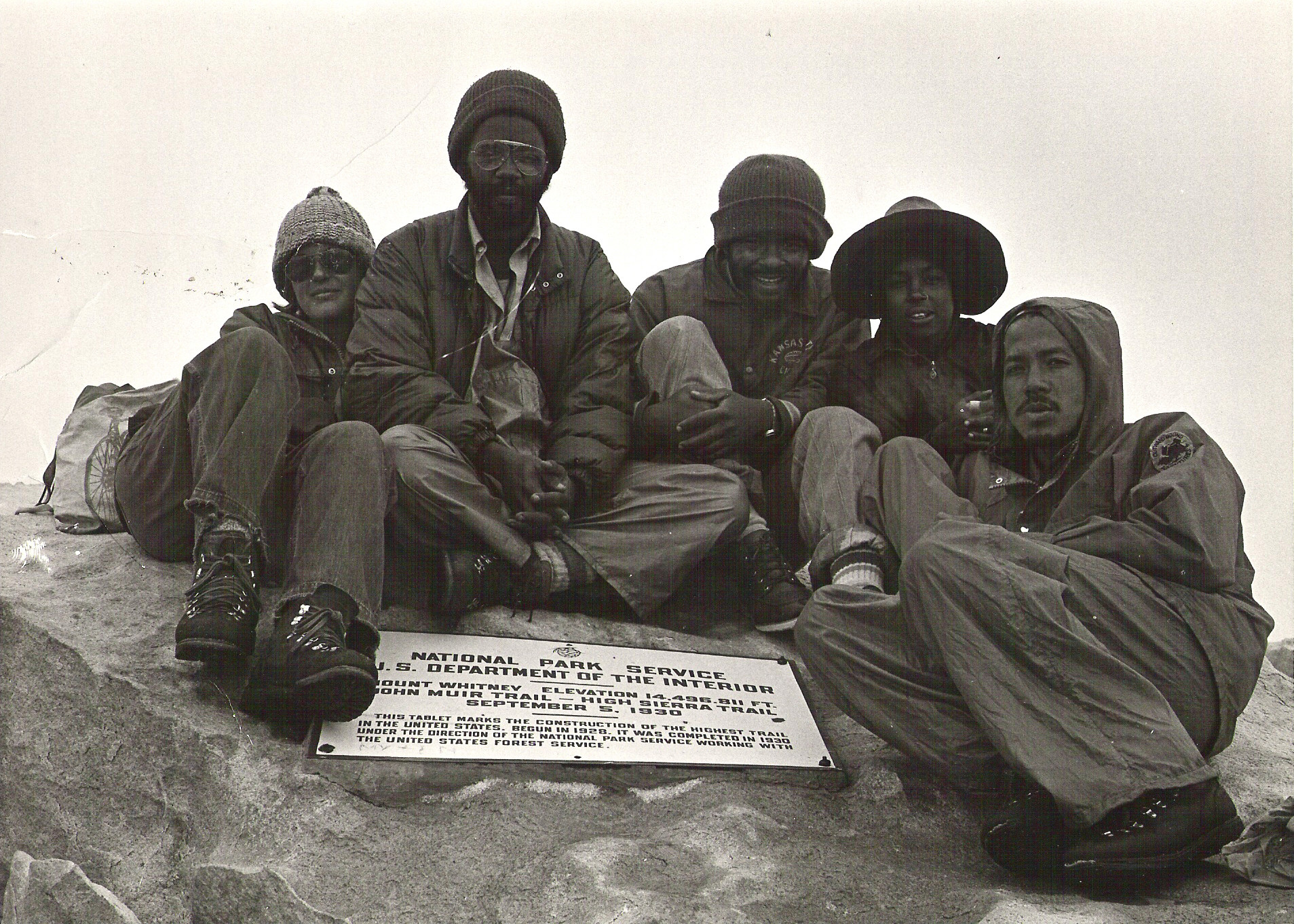 1972 - OBA Instructors scouting Mt. Whitney - Highest Peak in the continental United States