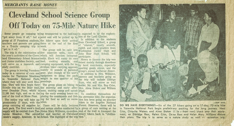 1964 - 75 Mile Backpacking Trip