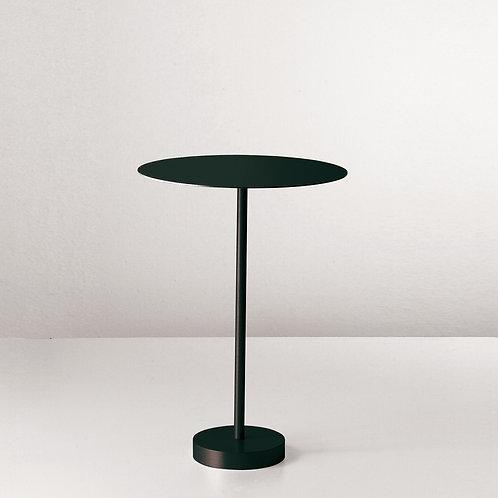 Italian Minimal Black Metal Side Table