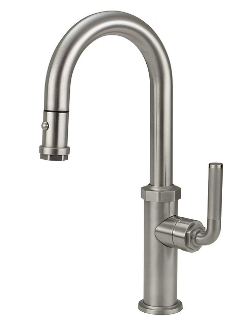 Industrial Pull Down High End Faucet Knurled Handle CalFaucet