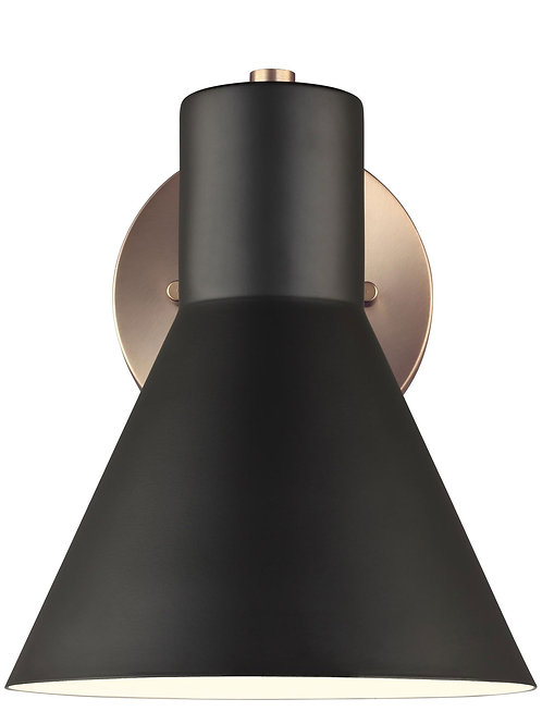 Towner Wall Sconce Brass and Black