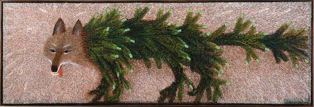 SUSIRAJA 40x120, Öljy, 1999,  Maalaus yksityiskokoelmassa