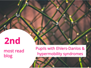 Delighted that my Ehlers-Danlos and Hypermobility blog for Edpsy.org.uk is 2nd most read in 2020!