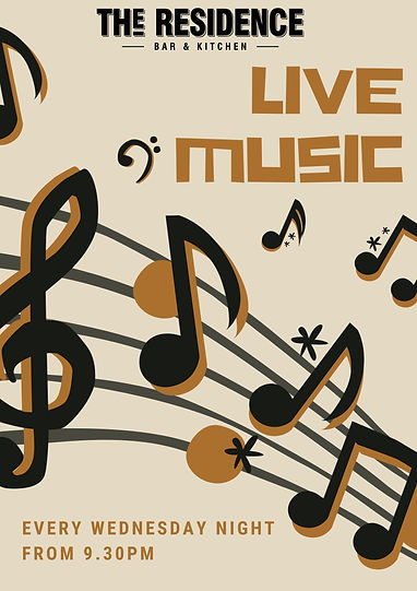 LIVE MUSIC EVERY WEDNESDAY NIGHT FROM 9.