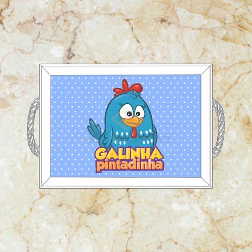 10059 - Bandeja Decorativa - Galinha Pintadinha