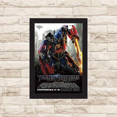 1643 - Quadro com moldura Transformers