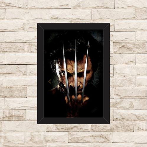 1387 - Quadro com moldura X-Men - Wolverine