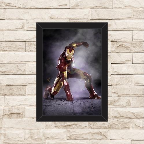 1367 - Quadro com moldura Homem de Ferro