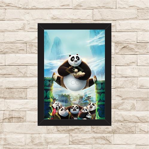 1678 - Quadro com moldura Kung Fu Panda 3