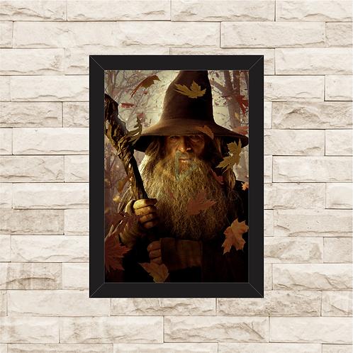 1014 - Quadro com moldura Senhor dos Anéis - Gandalf