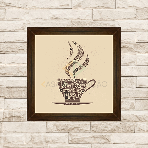 6003 - Quadro com moldura Coffee Time - Café