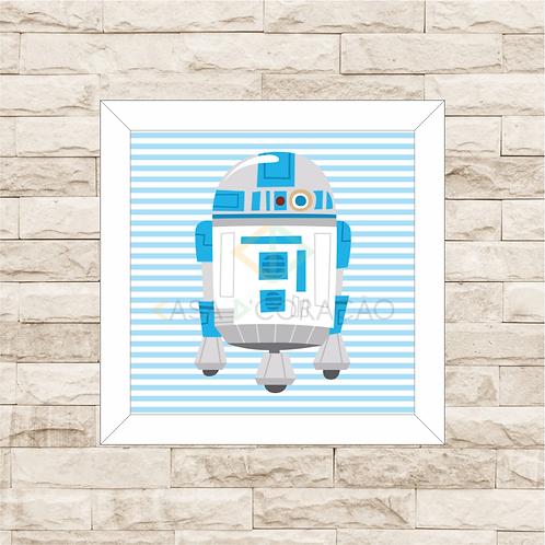 4127 - Quadro com moldura Baby R2-D2