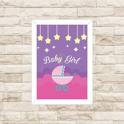 4018 C - Quadro com moldura Baby Girl