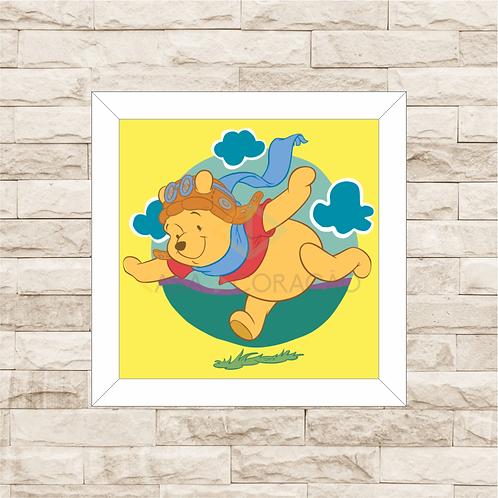 4090 - Quadro com moldura Ursinho Pooh