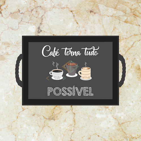 10056 - Bandeja Decorativa - Café