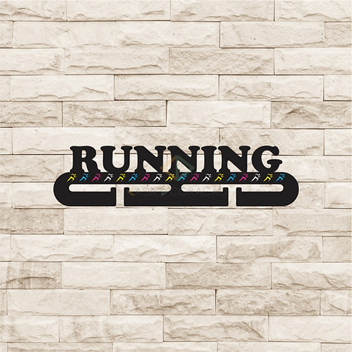 30040 - Placa Porta Medalhas - Running