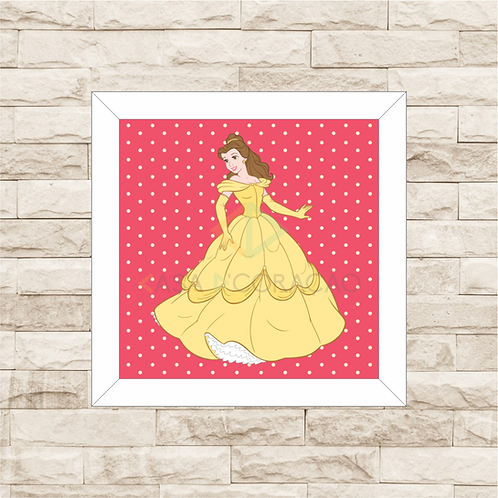 4101 - Quadro com moldura Princesas - Bela