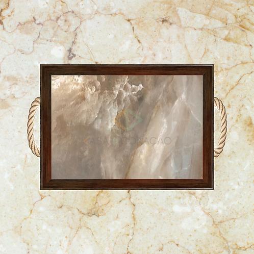 10007 - Bandeja Decorativa - Pedra