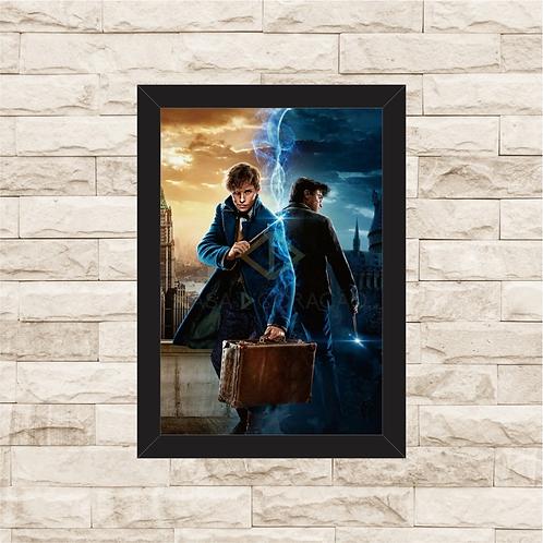 1222 - Quadro com moldura Harry Potter vs Animais Fantásticos