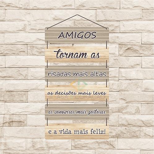 30123 - Placa Decorativa - Amigos
