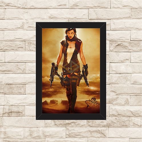 1611 - Quadro com moldura Resident Evil 3 - A Extinção