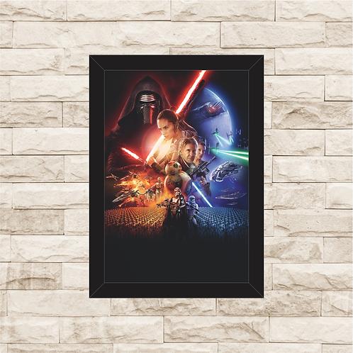 1418 - Quadro com moldura Star Wars